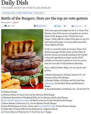 LA Times Battle of the Burgers