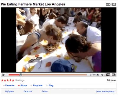 pie eating video