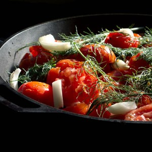 tomatoes and fennel for roasting