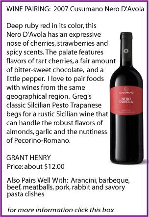 sippitysup wine pairing Nero D'Avola