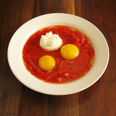 baked eggs prep