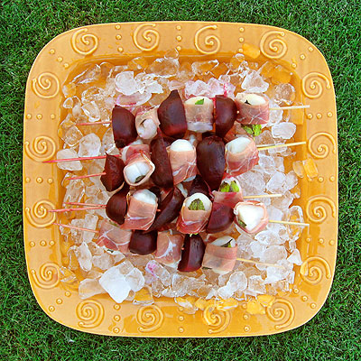 scallop and beet kabobs