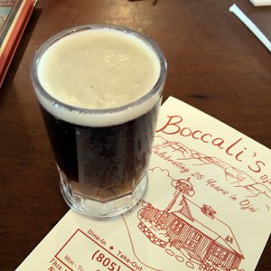 Beer at Boccali's Ojai