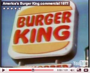 Burger King Comercial 1977