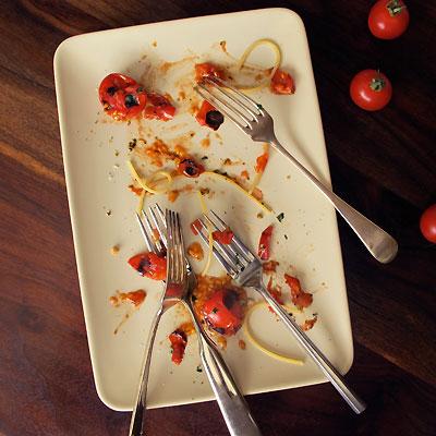 Pasta with Charred Cherry Tomatoes
