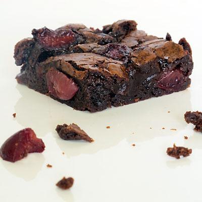 cherry and chocolate brownies