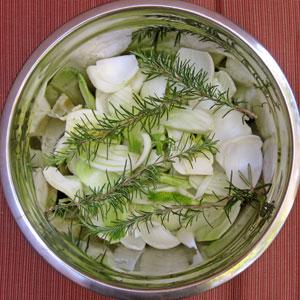 fennel soup prep