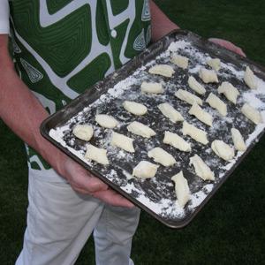 gnocchi on tray
