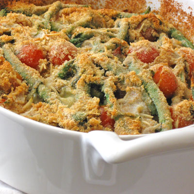 basil and green bean casserole