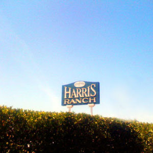 Harris Ranch Sign on I-5
