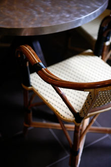 french cafe chair in SippitySup's kitchen
