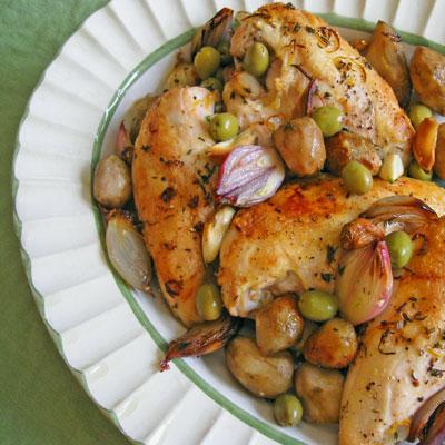 Roasted Chicken Breasts & Jerusalem Artichokes