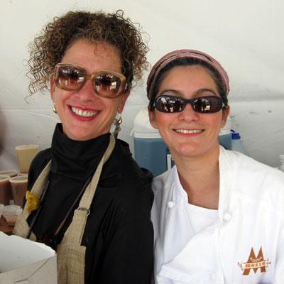 Nancy Silverton and Dahlia Narvaez