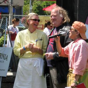 Chefs Mary Sue Milliken and Susan Feniger with Writer Jonathan Gold