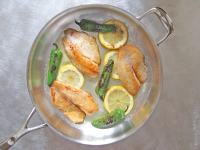 good talapia with spicy fish fillet jalapenos and lemon
