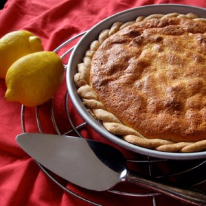 lemon cake pie