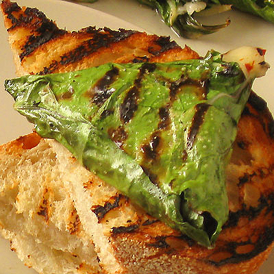 Grilled Mozzarella in Chard Leaves from Sippity Sup