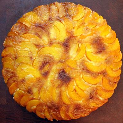 really big peach upside down cake