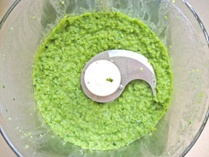pureed peas