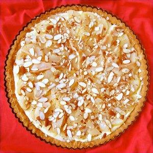 pear and almond tart prep