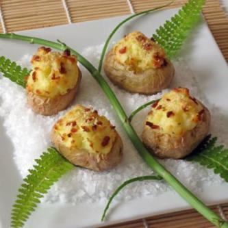Twice Baked Truffled Potato Boats