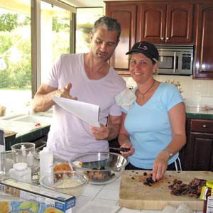 making baklava for the Palm Springs Three-way