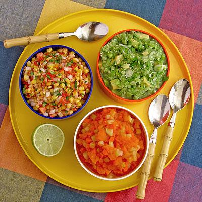a trio of salsas