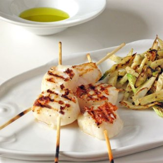 Grilled Scallops with Fennel