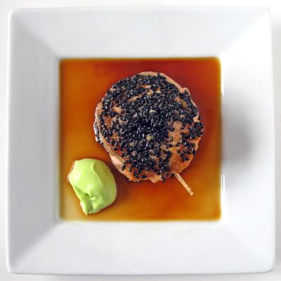 sesame salmon rolls
