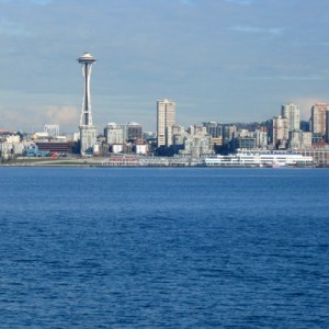 Seattle Space Needle from Alki Beach