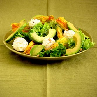 Squash Blossom and Ricotta Salad
