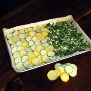 squash tart ready to be baked