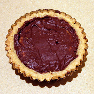 chocolate lined tart shell