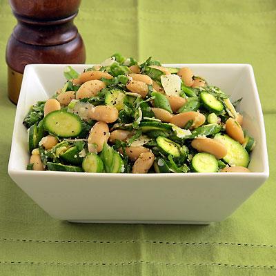 White Bean and Baby Zucchini Salad