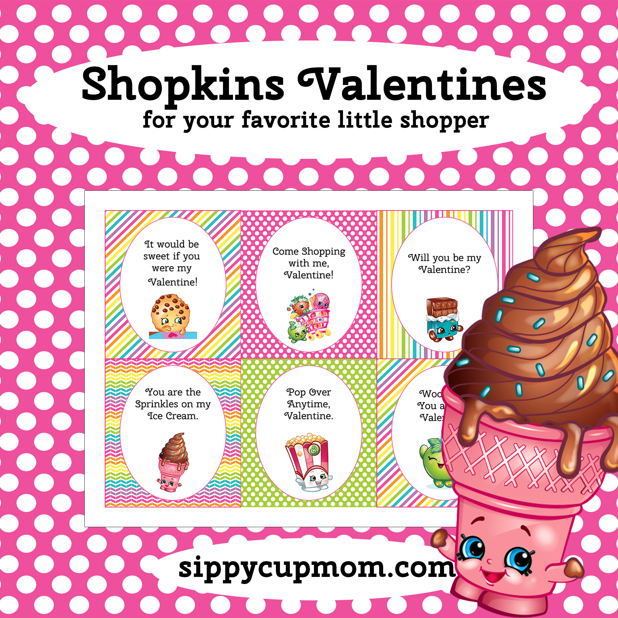 Free Printable Shopkins Valentine S Day Cards