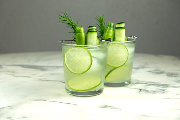 Cucumber gin gimlet