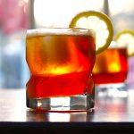 Pimm's and Bourbon