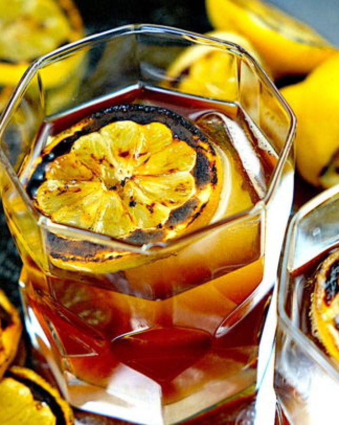 Charred Lemon Whiskey Sour