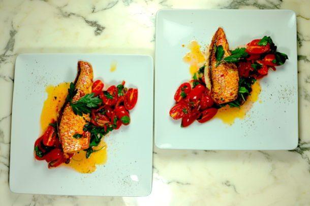 Red Snapper With Tomato Vinaigrette