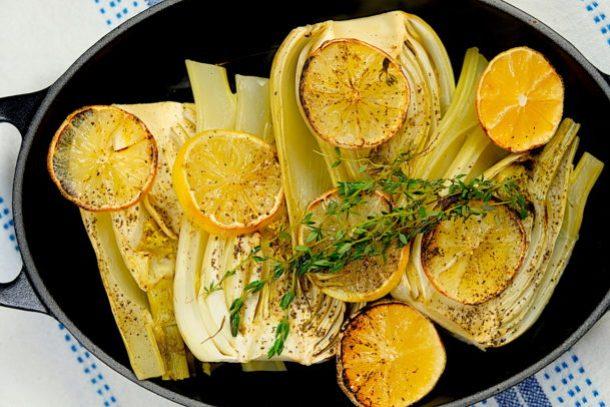 Lemon Braised Fennel