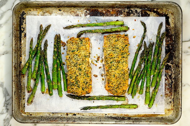 Dijon Panko Crusted Salmon