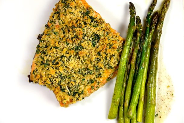 Panko Crusted Dijon Salmon