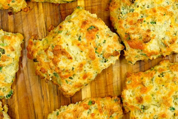 Cheddar Herb Buttermilk Drop Biscuits