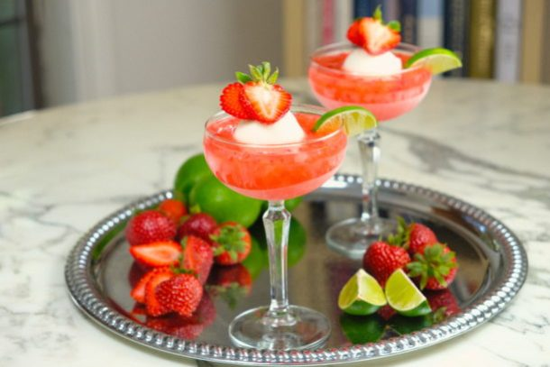 Strawberry Sorbet Margarita
