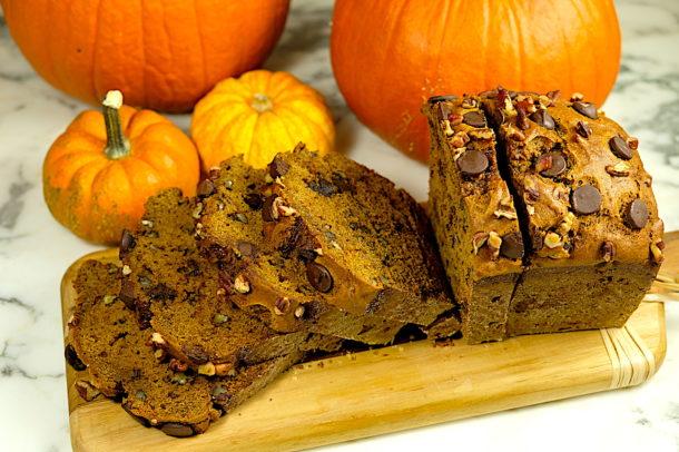 Chocolate Pecan Pumpkin Bread