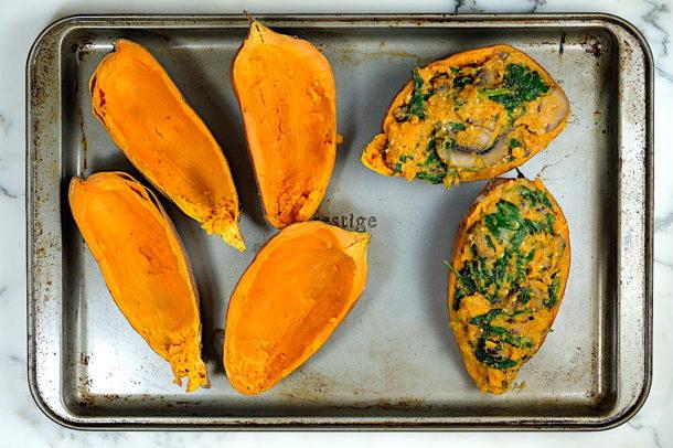 Twice Baked Sweet Potato