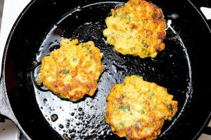 Jalapeno Cheddar Corn Fritters
