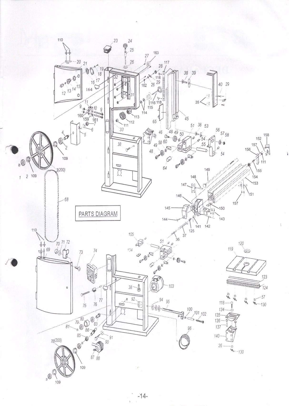 Sip 12 Wood Bandsaw Diagram