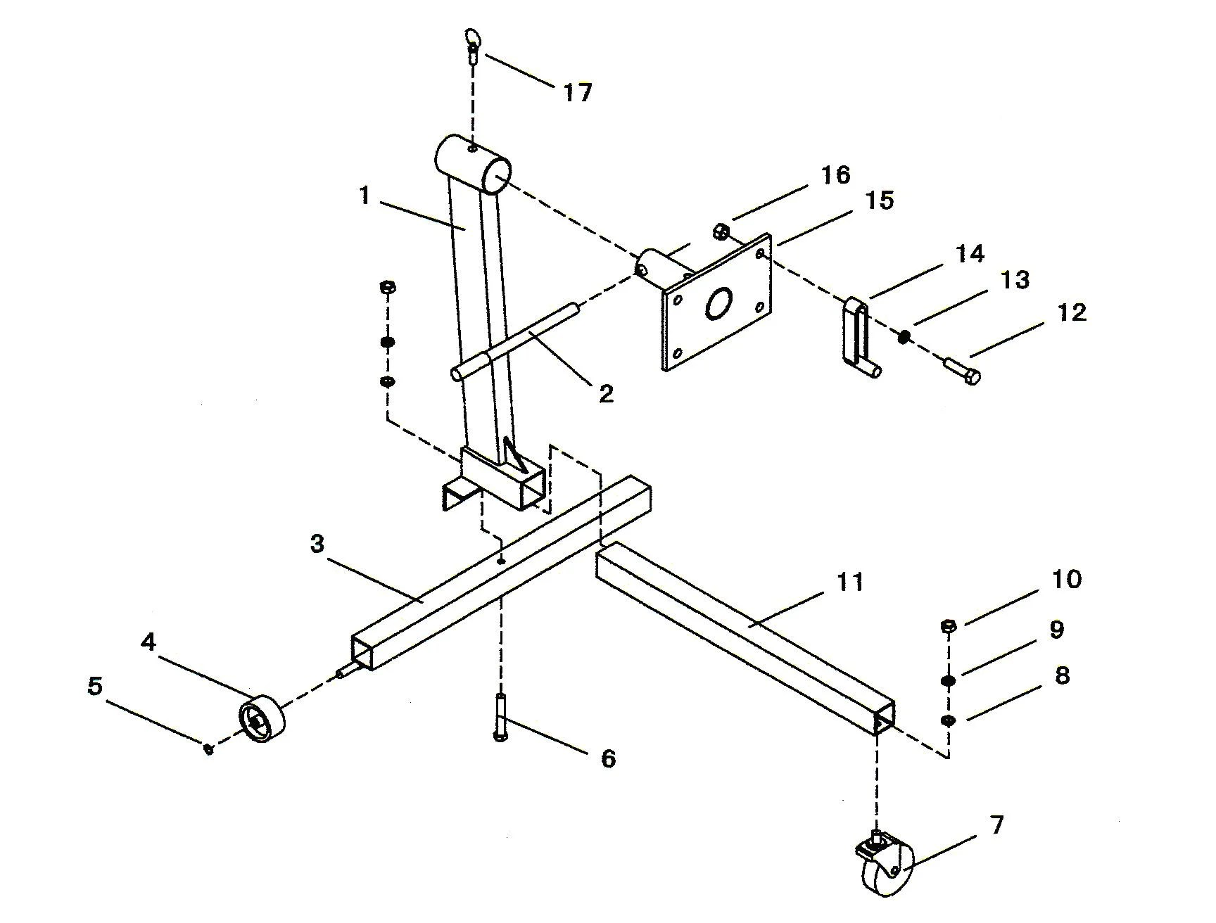 Sip 750lbs Engine Stand Diagram