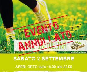 Evento 2 settembre annullato